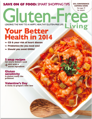 Natural Food Chef Lee Cotton in Gluten Free Living Magazine