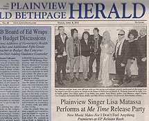 Country Artist Lisa Matassa in The Plainview Old Bethpage Herald