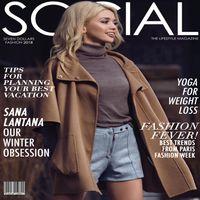 Social Influencer Emilia Taneva in Social Life Style Magazine