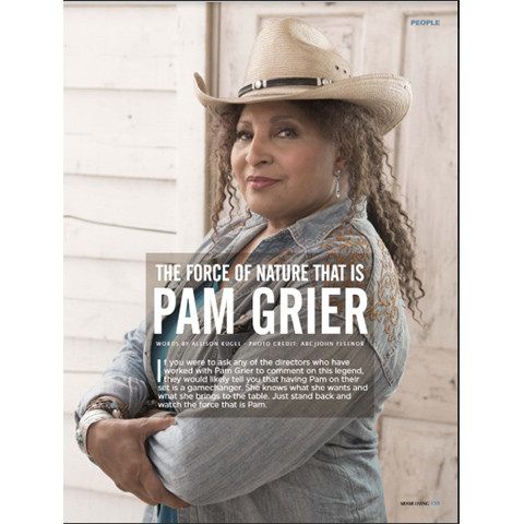 Actress Pam Grier in Miami Living Magazine