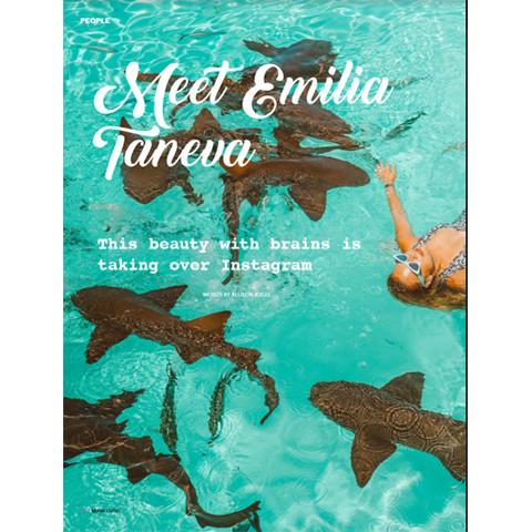 Social Influencer Emilia Taneva in Miami Living Magazine